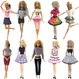 Best Wholesale Fashion Clothing Australia - Nk 10 Set 2019 Newest Princess Doll Outfit Beautiful Party Clothes Top Fashion Dress For Barbie Doll Best Girls' Gift Baby Toys Q190521