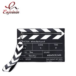 $enCountryForm.capitalKeyWord Australia - Black & White Fashion Movie Prop Design Pu Leather Casual Women's Clutch Envelope Shoulder Crossbody Messener Bag J190630