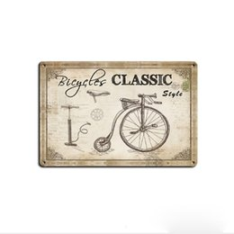 plaque art UK - Hot Sale Bicycle Retro Vintage Metal Tin sign poster Old Wall Metal Plaque Club Wall Home art metal Painting Wall Decor Art Pictures