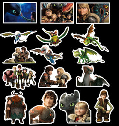 nursery room wall stickers 2019 - 42pcs set Graffiti Sticker Personality How to Train Your Dragon 3 Luggage DIY stickers cartoon PVC Wall bag kids toys 15