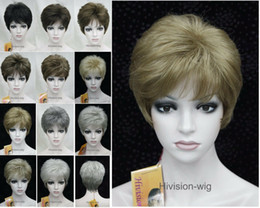 wigs colours 2019 - Details about 11 Colour Short Straight Women Ladies Natural Daily Hair wig Hivision #9296 cheap wigs colours