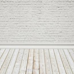 Backgrounds Portrait Photography Australia - Laeacco White Brick Wall Wooden Floor Portrait Baby Photography Backgrounds Customized Photographic Backdrops For Photo Studio