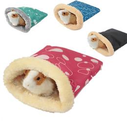 Manter Quente Ninho de Hamster Squirrel Squirrel Sleeping Bag Vermelho Azul Verde Preto Padrões de Variedade Sacos de Dormir 2 4yz L1 em Promoção