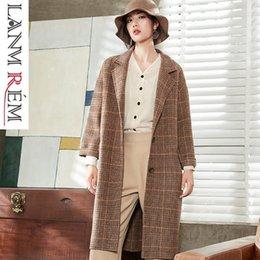 $enCountryForm.capitalKeyWord Australia - LANMREM 2019 Oversize Double-sided Woolen Clothing For Women New Fashion Notched Long Sleeve Casual Coat Female YG52404