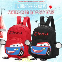 Lost Backpacks Australia - Cartoon Kids 3D Car Bags Baby mochilas Child's School Bag for 1-3Y Boys and Girls Anti Lost Bagpack Child Nylon Backpack