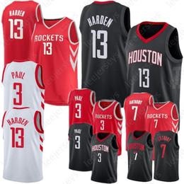 7935ff7f1 Chris 3 Paul Houston James 13 Harden Rockets Jersey Carmelo 7 Anthony 100%  Stitched Embroidery Logo Basketball Jerseys