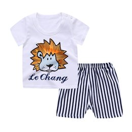 Girls Winter Short Pants UK - Summer Cute Cartoon Kids Baby Girls T-shirt Top Shorts Pants Set Clothes Girls Clothing Sets Toddler Girl Clothes Boys