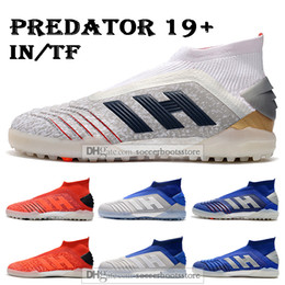 Beckham shoes online shopping - New Mens High Ankle Football Boots Predator Soccer Cleats ZIDANE BECKHAM Predator Tango IN TF X Pogba Indoor Turf Soccer Shoes