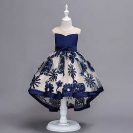 $enCountryForm.capitalKeyWord Australia - 2019 Embroidery Floral Dress Girls for Weddings Baby Tutu Dress for Birthday Dresses for Girls Knee-length Vestido De Daminha