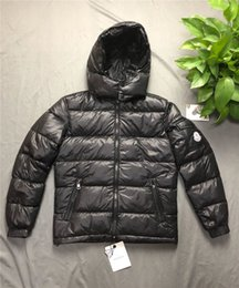 Wholesale autumn outwear for sale – winter Mens Designer Coat Hooded Autumn Winter Windbreaker Coat Down Thick Luxury Hoodie Outwear Luminous Jackets Asian Size Men s Clothing