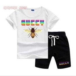 $enCountryForm.capitalKeyWord Australia - GVCH Little Kids Sets 2-8T Kids T-shirt And Short Pants 2Pcs sets Baby Boys Girls 94% Cotton Pattern Design Printing Style Summer Sets lw 09