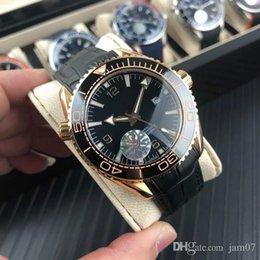 GA750 orologio da polso meccanico 44mm13mm movimento meccanico tiecheng occidentale blu - vetro placcato - ceramica anello bocca acciaio inox 316 ca