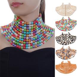 $enCountryForm.capitalKeyWord Australia - Jerolli Fashion Handmade Pear Ccb Chokers Jewelry Neck Bib Collar Torques Chain Statement Necklaces Pendants Women Gift J190711