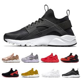 Pink black huarache shoes online shopping - 2019 Huarache Running Shoes Classical Triple White Black Red Huaraches Designer Mens Trainers Sports Sneaker Size