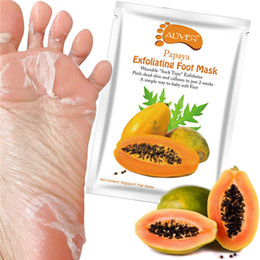 New ALIVER Avocado Papaya Olive Oil Exfoliating Foot Mask Remove Dead Skin Smooth For Feet Skin Care on Sale