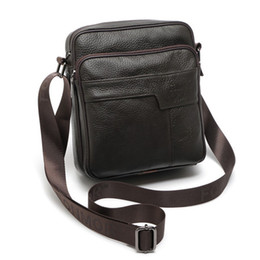 Genuine Leather Man Bag Small Australia - Natural Cow Leather Messenger bag Men Briefcase Casual Black Coffee Small Male Crossbody Shoulder bags Genuine Leather bag 450g