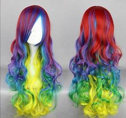 $enCountryForm.capitalKeyWord Australia - WIG free shipping Great Quality Synthetic Hair Multi-color 70cm Long Curly Lolita Cosplay Wig