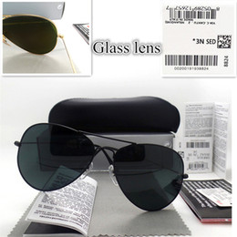 $enCountryForm.capitalKeyWord Australia - High quality Glass lens Men Women Polit Fashion Sunglasses UV Protection Brand Designer Vintage Sport Sun glasses With box and sticker