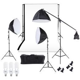 $enCountryForm.capitalKeyWord NZ - Freeshipping Photography Studio Lighting Kit Softbox Photo Studio Video Equipment Backdrop Softbox Cantilever Light Stand Bulbs Carrying Bag