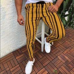 Urban printing online shopping - Men Casual Striped Long Jogger Pants Mens Harem Fitness Joggers Stripe Urban Straight Drawstring Slim Fit Trousers XL