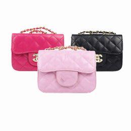 e687935c3e1b Fashion Kids Handbags PU Leather Metal Chain Children Coin Purse Baby Purse  Teenager Girls Mini Messenger Bags