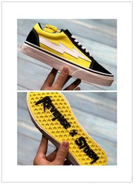Black White Red Canvas Prints Australia - 2018ji hot sale Revenge X Storm Old Skool Canvas Designer Sneakers Women Men Low Cut Skateboard Yellow Red Blue White Black Casual Shoes