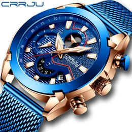 $enCountryForm.capitalKeyWord Australia - 2019 CRRJU New Brand Watches Luxury Men Minimalist Daily Fashion Sport Watches Blue Hands for Man kol saati
