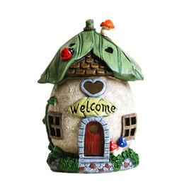 $enCountryForm.capitalKeyWord UK - Solar Mushroom House Lights Mushroom Fairy House Solar Garden Light Resin Statue Garden Lamp for Decoration