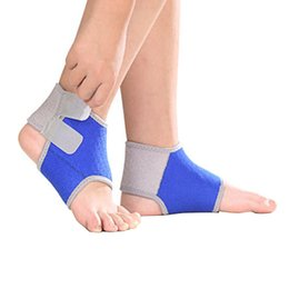 ankle support pad UK - Children Breathable Ankle Support Pads Adjustable Foot Wraps Compression Brace Protector FI-19ING