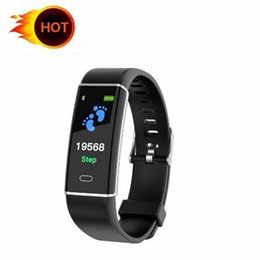 pulse heart rate watch band Australia - D12 Smart Bracelet Fitness Tracker blood pressure Heart Rate tracker Monitor Pedometer Smart band Wristband sport smart watch