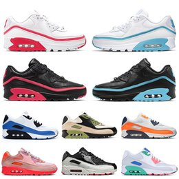 beach tennis Canada - 2020 New Arrival Undefeated White Blue Cushion Running Shoes SE 90s Pink Orange Blue South Beach Mens Womens Trainers Sport Sneakers 36-46