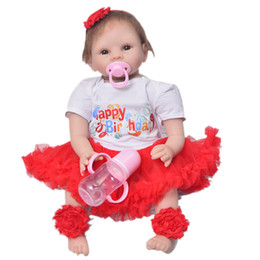 343c906d35c 55cm Silicone Reborn Baby Doll Toys 22inch lifelike white skin bebe  toddlers Gift children Christmas birthday doll hot sale
