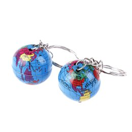 $enCountryForm.capitalKeyWord Australia - 2Pcs Newest Globe Keychain Handmade Planet Earth Geography Key Chain Glass Dome Keychains