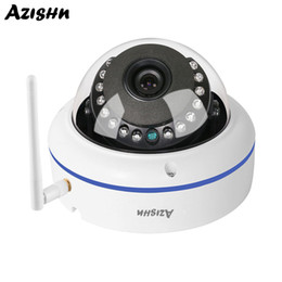 Cmos Vandal Proof Camera Australia - AZISHN 5MP WIFI IP Camera Vandal-proof Outdoor Security Wireless Wired Night Vision CCTV Dome Camera With SD Card Slot ICSee APP