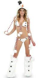 Hot Sexy Lingerie Women Costume Australia - 2018 New sexy bikini Snowman Set women sexy lingerie hot christmas costumes for women Christmas Snow Maiden costume mascot