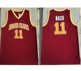e00cd9905 Cheap custom #11 Santa Clara Men Basketball Swingman Jersey Steve Nash  Stitched Red Stitch customize any number name MEN WOMEN YOUTH XS-5XL