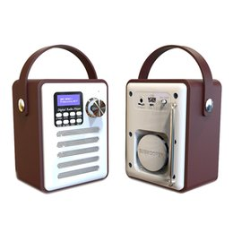 dab portable radio Australia - Dab Dab+ Tuner Digital Radio Receiver Bluetooth 5.0 Fm Broadcast Aux-In Mp3 Player Support Tf Card Built-In Battery
