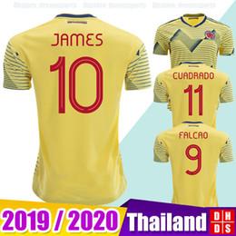 efae66120 New 2019 Colombia Soccer Jerseys Copa America Men Women Kids JAMES  Rodriguez Camiseta de futbol FALCAO CUADRADO maillot Football shirts