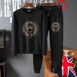 $enCountryForm.capitalKeyWord Australia - Mens Designer tracksuit Sticker Diamond Print Fashionable Slim High-end Mens Sweater tracksuit