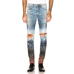 $enCountryForm.capitalKeyWord UK - 2019 new High Street Trend Men's Jeans Tropical Style Washed Hole Slim Micro Missile AMIRI Denim Pants