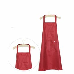 Wholesale PVC Waterproof Sleeveless Cooking Kitchen Chef Waiter Pocket Long Apron Goodish