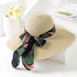 5a2d9eef Wholesale Floppy Hats For Women Australia - 2019 New Summer Female Sun Hat  Bow Ribbon Panama