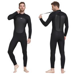 88a268e7c7 Full Diving Suit UK - Sbart 2019 New 3mm Men Neoprene Nylon Wetsuit Black  Thicken Thermal
