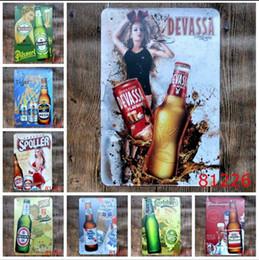 $enCountryForm.capitalKeyWord Australia - Vintage 20*30cm Iron Paintings Beer Cake Tin Poster For Bar BBQ Shop Store Decoration Metal Tin Sign Popular