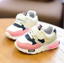 Children Toddler NZ - Children Sport Shoes Autumn Winter New Fashion Breathable Kids Boys Net Shoes Girls Anti-slippery Sneakers Baby Toddler Shoes