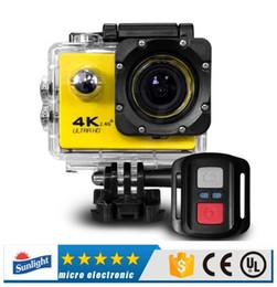 Ultra HD مع جهاز التحكم عن بعد 4K كاميرا رياضية 30 متر ماء 2.0