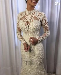 Classic White Dresses Australia - Evening dress Long dress Long sleeve Crystal Tulle Zipper White Mermaid Classic Customizable in any size Modern 433