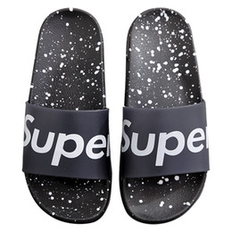 plastics home slippers NZ - Fashion Luxury Designer Women Shoes Summer Home Slippers Outside Wear Bathroom Injection PVC Plastic Home Slippers Size 36-40