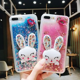 Sand Iphone Australia - New Mobile phone shell love sand quick mobile phone case high-grade drill rabbit bracket mobile phone protective cover For iphone Xs Max
