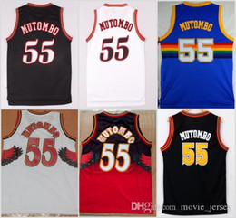 Hawks sale online shopping - NCAA Atlanta Dikembe Mutombo Jersey Hawks Sale Fashion All Star Mutombo Shirt Uniform Team Red Blue White Black Best Quality